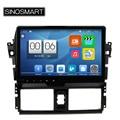 Sinosmart suporte 4g 4 núcleo ram 2 gb android 5.1 de áudio do carro Jogador de Navegação GPS para Toyota Yaris Vios 2014 2015 sem Canbus