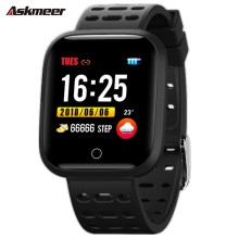 лучшая цена ASKMEER Y18 Smart Band Heart Rate Tracker Fitness Tracker Smart Bracelet Men Smart Wristband sport Smart Watch IP67 Waterproof