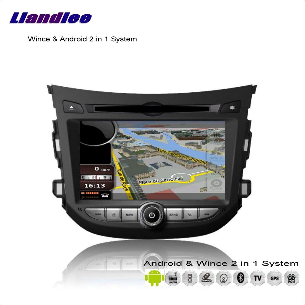 Liandlee pour Hyundai HB20 2011 ~ 2013 autoradio lecteur DVD GPS Nav Navi carte Navigation avancée Wince & Android 2 en 1 S160 système