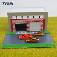 1 87 Model Train HO Scale Frame Garage Diy Kit Architectural Model Material Sand Table Model