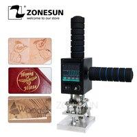 ZONESUN LOGO Marking Machine Pressure Mark Trademark Stamping Small Wood Leather Plastics Lint Cartons Tires Bronzing Machine