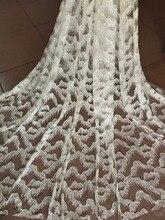 Najlepiej sprzedających afryki koronki tkaniny nigeryjska tkanina francuska wysokiej jakości JIANXI.C 101411 klejone brokat tkanina tiulowa z koronką i cekinami