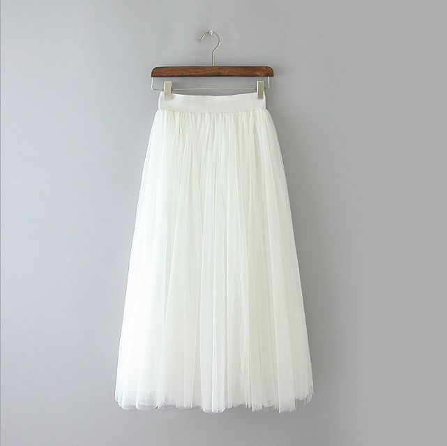 livraison 2018 tutu princesse Jupes femmes et Printemps longues jupe voile de net de taille gratuite sections qrqH6Wn