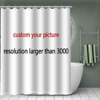 11.11 HOT SALE Print Your Pattern, Custom Bamboo Shower Curtain Polyester Fabric Bath Curtain Waterproof With Hook For Bathroom