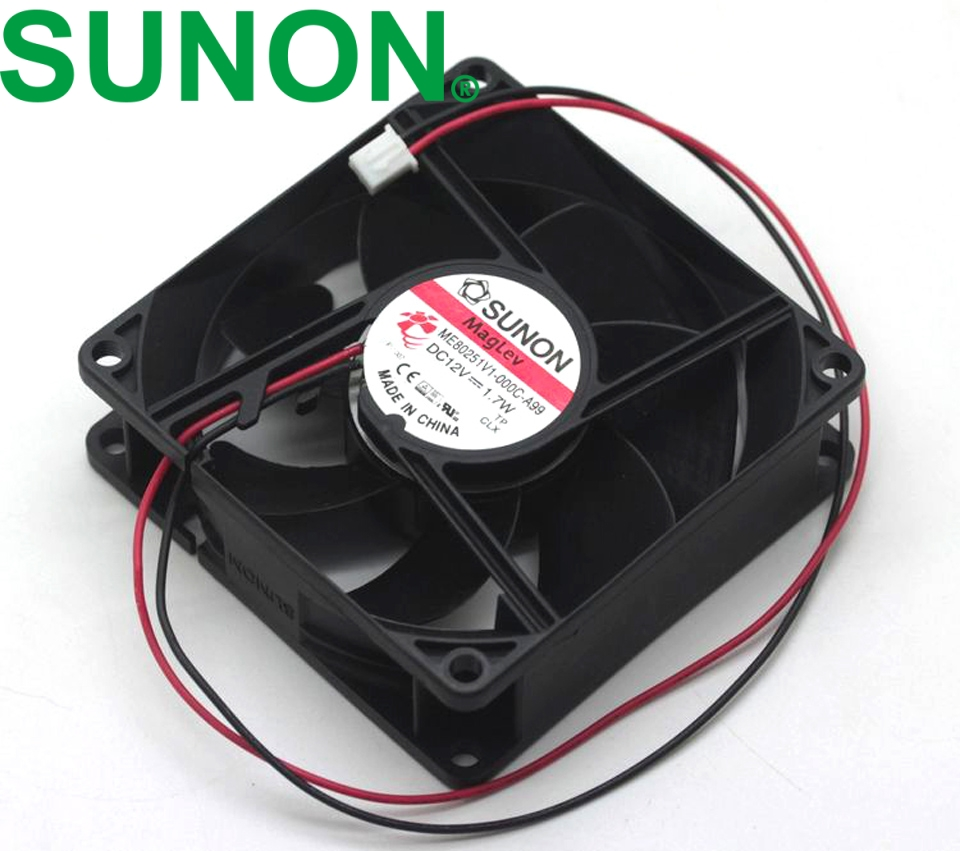 Sunon ME60101V3-E03C-A99 6010 60mm slim thickness silent quiet 0.52W 2-wire case cooling fan