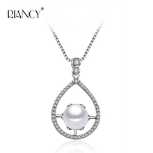 New style fashion 925 silver pendant necklace with 9-10mm real freshwater pearl free shipping