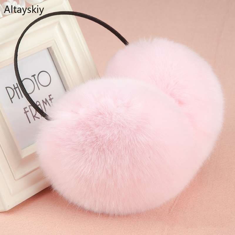Earmuffs Women 2020 Solid Sweet Soft Plush Warm Cute Lovely All-match High-quality Korean Style Elegant Comfortable New Womens