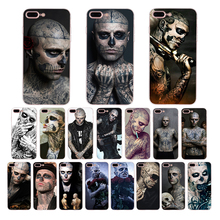 лучшая цена Soft phone case for iphone x xr 6 7 8 6s plus xs max 5s 5 se silicone cover Zombie Boy Rick Genest cool design shell accessories