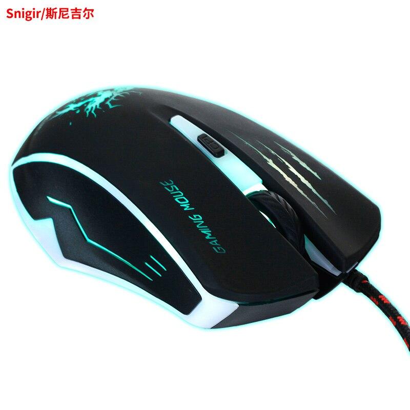 Snigir Marque USB Filaire Optique LED 3200 DPI Souris De Jeu en Souris Pour gamer Dota 2 cs go ordinateur PC Portable mause gamer 921 souri