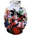 Clássico Da Equipe De Dragon Ball 3D Hoodies Goku/Vegeta/Piccolo Estampas Moletom Com Capuz Homens Camisola Do Hoodie Das Mulheres Dos Ganhos Pullovers