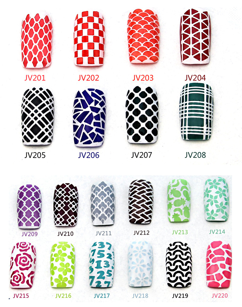 NEW Easy Use Nail Art Stamping Stencils Template Tips Vinyls Guides ...