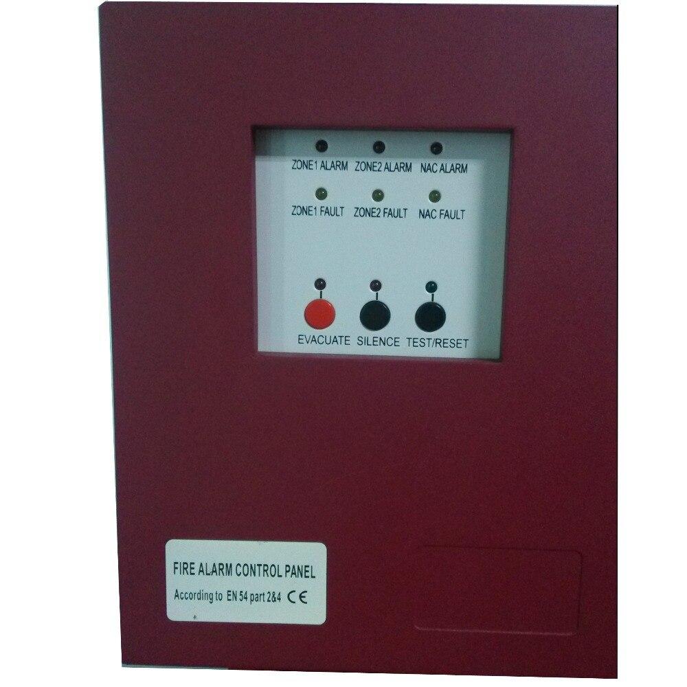 Бесплатная доставка 2 зоны Панели управления пожарной сигнализации с вход переменного тока пожарной сигнализации Управление Системы Обычн... ...