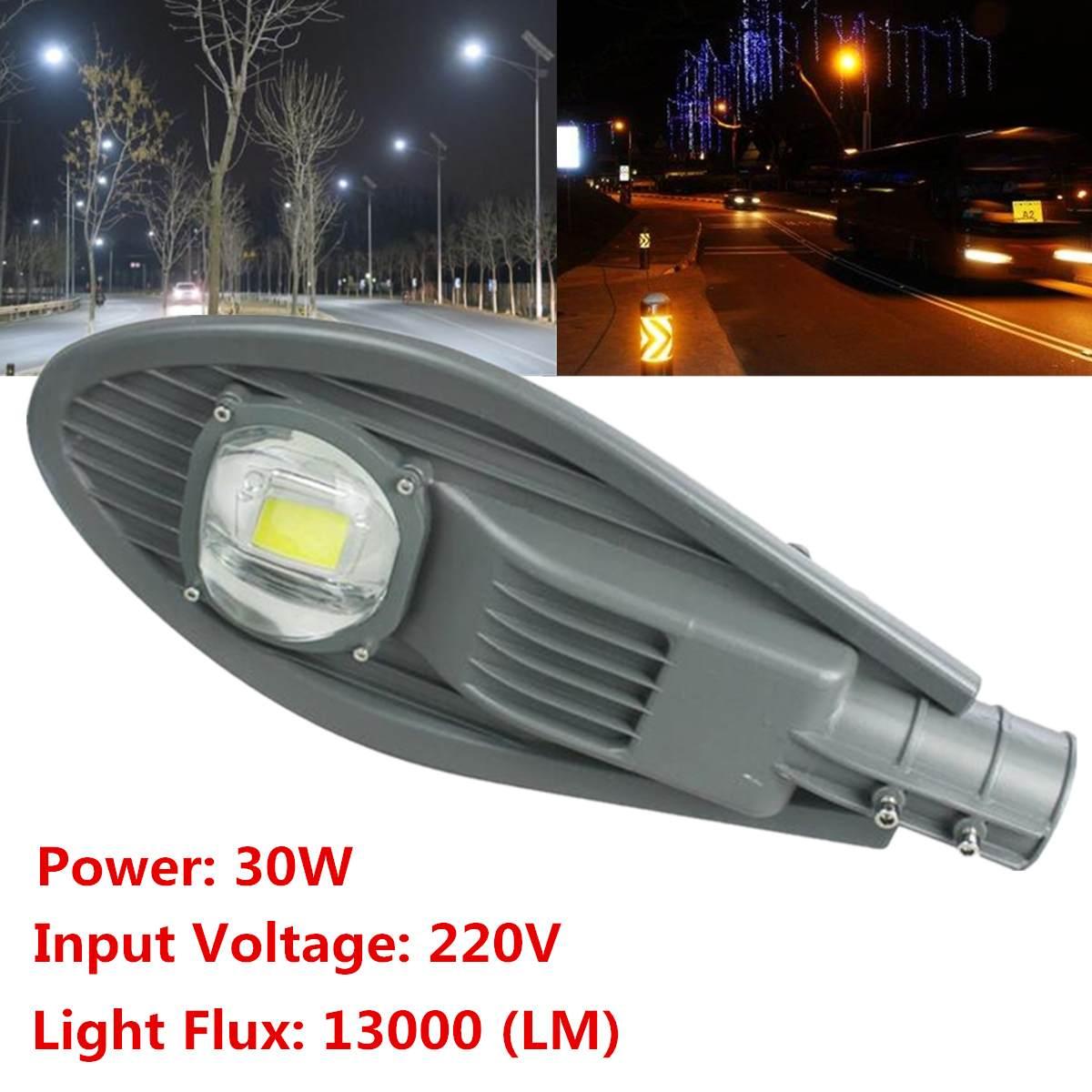 30W LED Road Street Light Industrial Lamp Outdoor Garden Yard Lights 220V