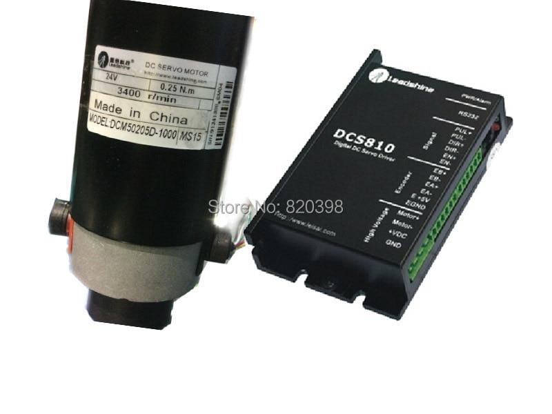 80 W 24 V DC щеточный Серводвигатель мотор DCM50205D-1000+ DCS810 DC сервопривод Комплект 0.25NM 3400 об/мин 18~ 80VDC Leadshine
