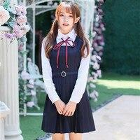 school dress girl uniform high school korean japanese school uniform girl short Long sleeve japanese style girl women