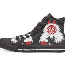 Фигурка Принцесса Мононоке Hayao Miyazaki Studio Ghibli Повседневная Высокая холщовая Обувь Кеды легкие ботинки для ходьбы