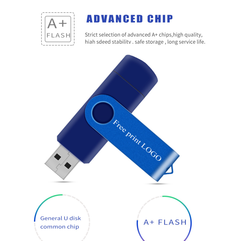 Usb Flash Drive 32gb 128gb Usb Stick 8gb 4gb Pen Drive 64gb Metal New OTG Pendrive 16gb For PhoneTablet Memory Stick Free Logo (9)