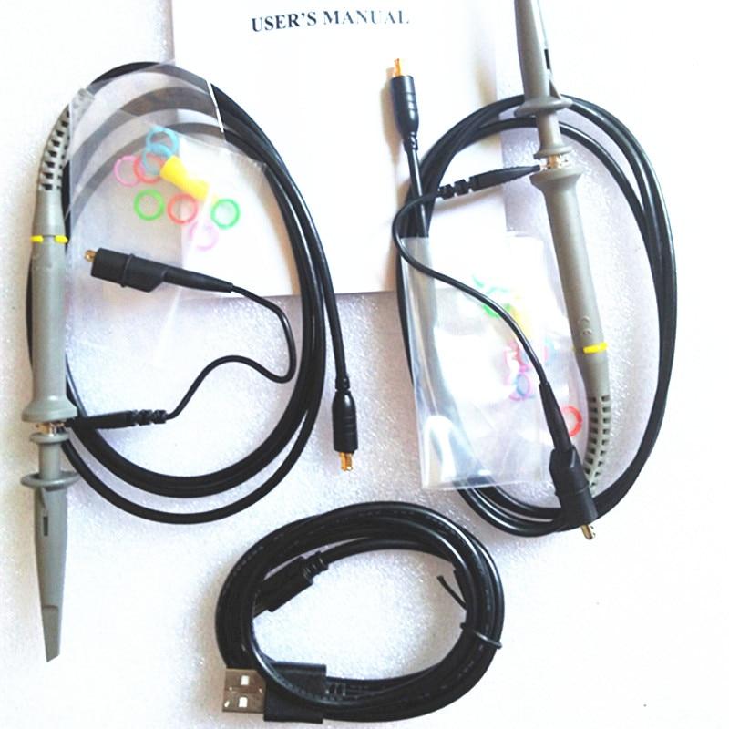 Mini DSO203 Digital Oscilloscope USB ARM Nano V2 Quad Portable Osciloscopio 8MHz 4CH Osciloscop With Plastic Housing DS203