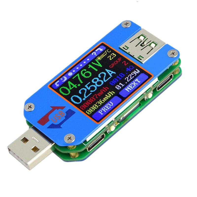 QC2.0/3.0 UM25 UM25C Couleur LCD Type D'affichage-C Voltmètre Ampèremètre 4-24 V 0-5A Pour Courant tension Testeur Charge 40% Off