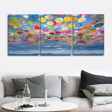 Laeacco Modern Wall Artwork Colorful Umbrella Posters and Prints Nordic Home Decoration Canvas Painting Baby Bedroom Living Room