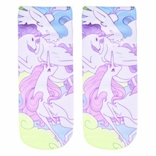 Women's Unicorn Pastel Colored Socks