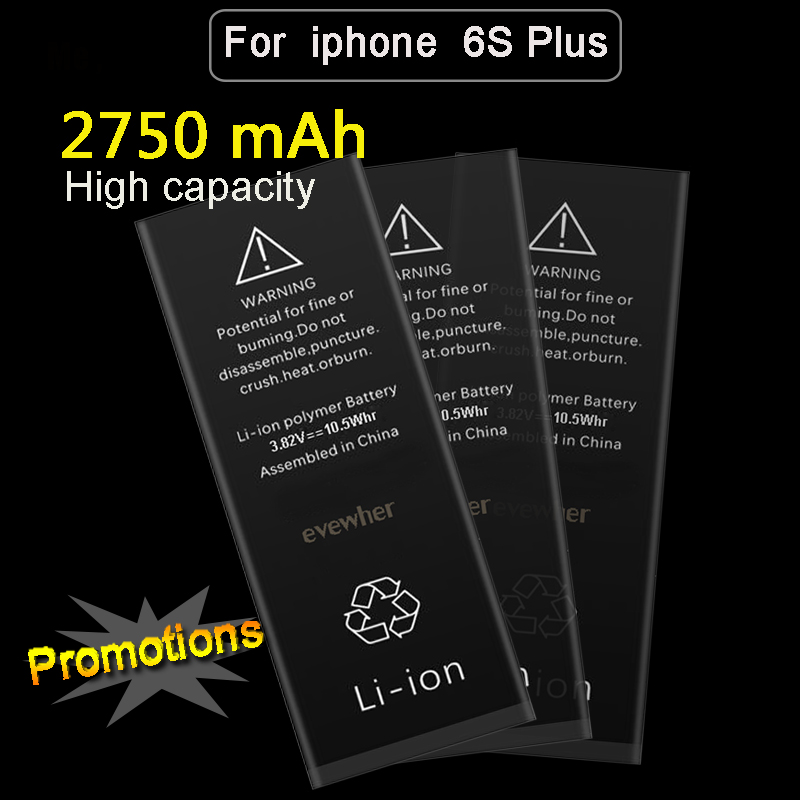 For Iphone 6S Plus Battery High Capacity Batery For Iphone6S plus Replacement Batteries 2750mah Lipolymer Battery Free Tools