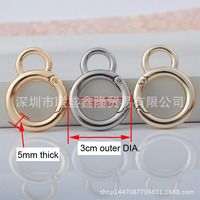 Wholesale 30mm sized 8 gourd shape quality spring buckle connector beer buckle key chain buckle 12pcs lot new free shipping