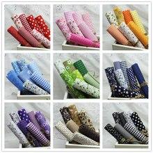 64Pcs,9Sets Colors 100% Cotton Fabric,Cheapest Fabric 50x50cm Print Plain Quilt Fabrics,Tissue for Sewing Telas Patchwork Cloth