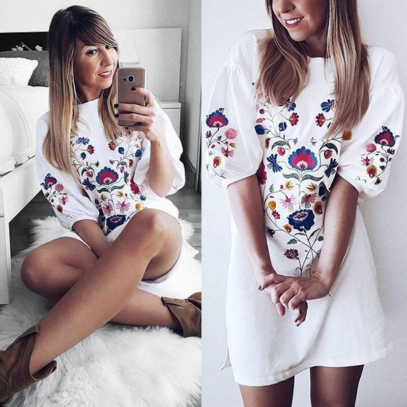 Women's Floral Printed Bodycon   Nightgowns   Evening Summer   Sleepshirts   Casual Sleepdress