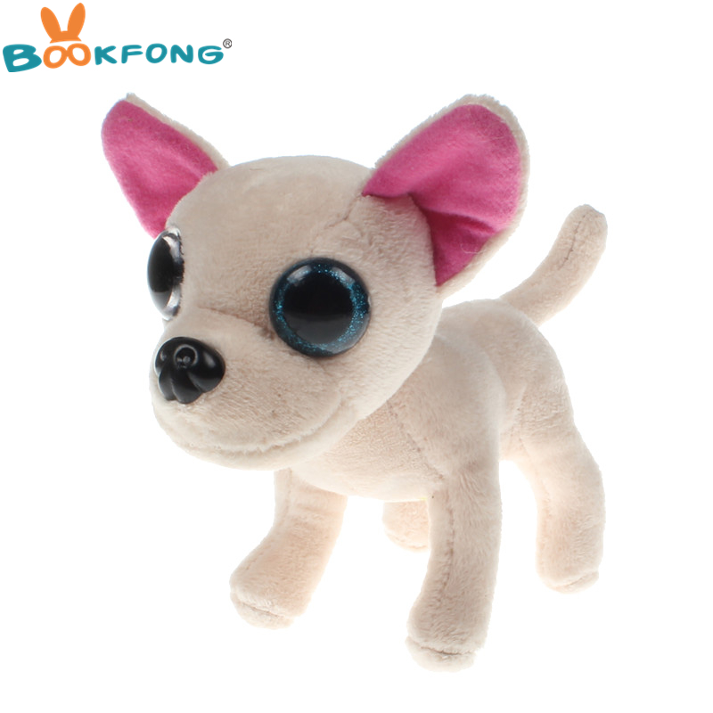 BOOKFONG 15CM Cute Dog Chihuahua Plush Doll Big Eyes Chihuahua Stuffed Pet Toys Kids Children Birthday Gifts super cute plush toy dog doll as a christmas gift for children s home decoration 20