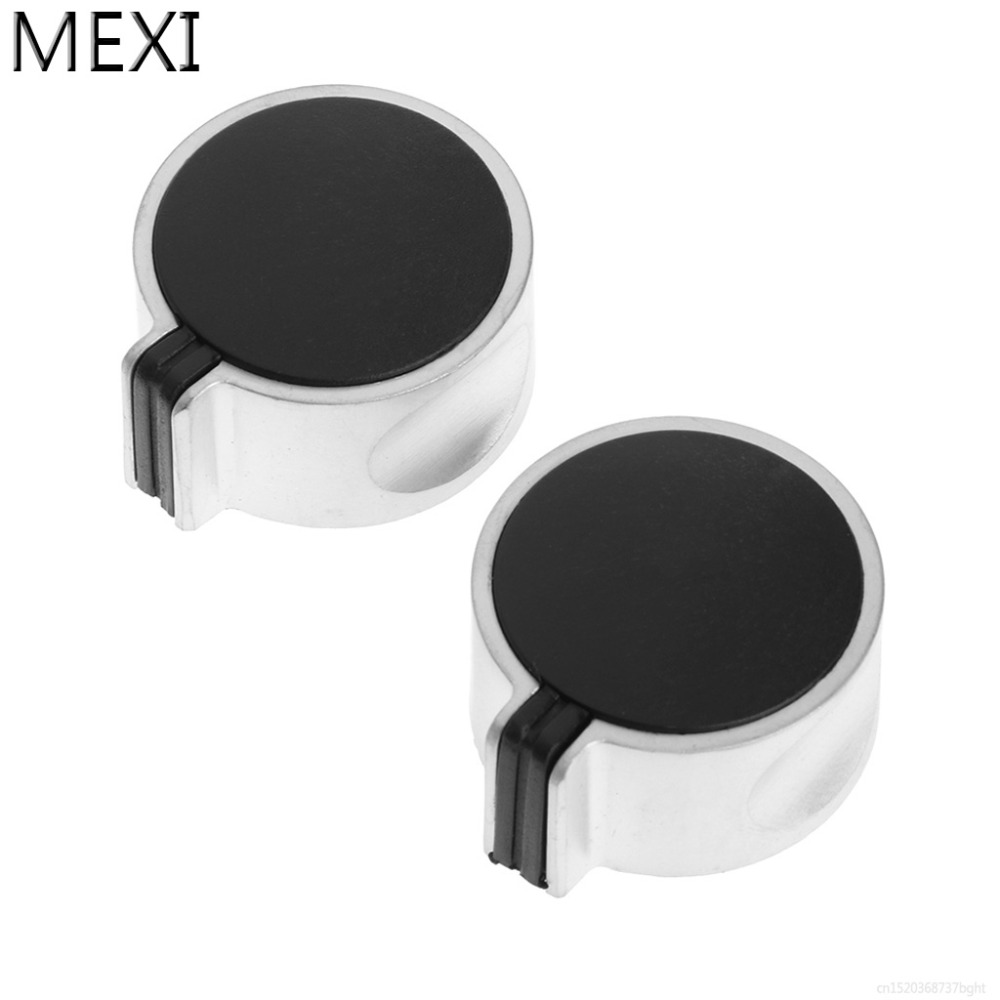 MEXI 2Pcs 8mm Hole Metal Gas Stove Cooker Rotary Switch Knobs Left&Right Direction Universal Replacement mexi 2pcs 8mm hole metal gas stove cooker rotary switch knobs left