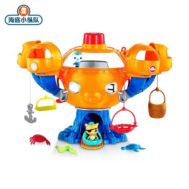 Octonautas figuras de acción de Ocean Adventure para niños, juguete educativo con música ligera, castillo del pulpo, regalo de cumpleaños