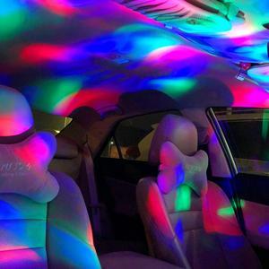 Image 5 - سيارة مصابيح داخلية مصباح للزينة Led صغيرة RGB الملونة مصباح لتهيئة الجو السيارات USB DJ ديسكو المرحلة تأثير أضواء السيارة التصميم