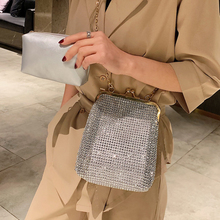 ETAILL Full Diamond Silver Bags For Women 2019 Shoulder Lady Wedding Party Clutch Evening Bag Golden Chain Crossbody