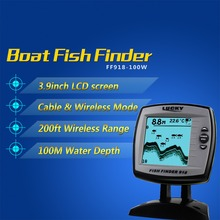 LUCKY 2-in-1 fish finder Monitor FF918-100W Wired 100M and 45M Wireless Boat Fish Finder Sensor Sonar Fish Finder Fishing Sensor