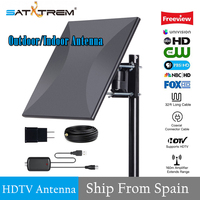 SATXTREM 160miles Outdoor 4K TV Antenna with Amplifier Signal Booster For VHF/UHF Channels with 32.8ft Coax Cable HDTV Antenna