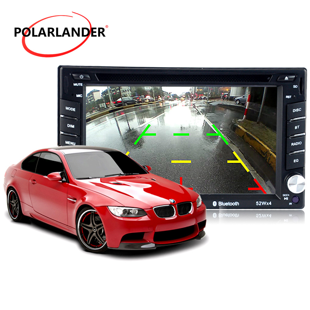 Universal 2 din 6.5 inch Car DVD MP4 Player With Bluetooth USB AM FM RDS touch screen SD card Radio 7 languagefor rear camera joyous j 2611mx 7 touch screen double din car dvd player w gps ipod bluetooth fm am radio rds