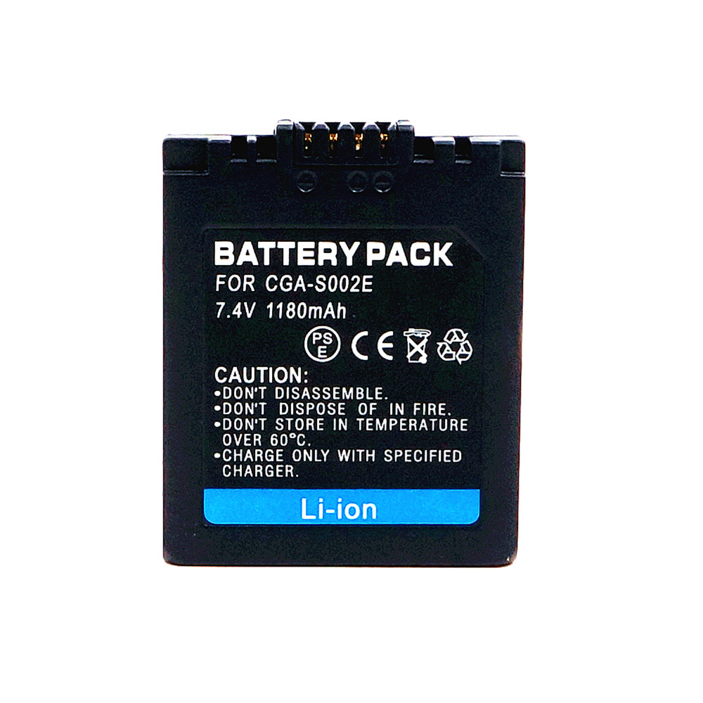 Whcyonline Camera Battery Panasonic 1180mah DMC-FZ10 S002 BM7 for Dmc-fz10/Fz15/Fz2/..