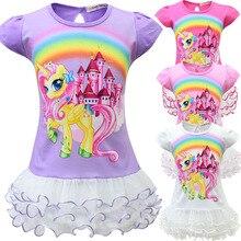 2019 Little Girls Short-sleeve Unicorn Dress Kids  Party Dresses Cute Children Princess