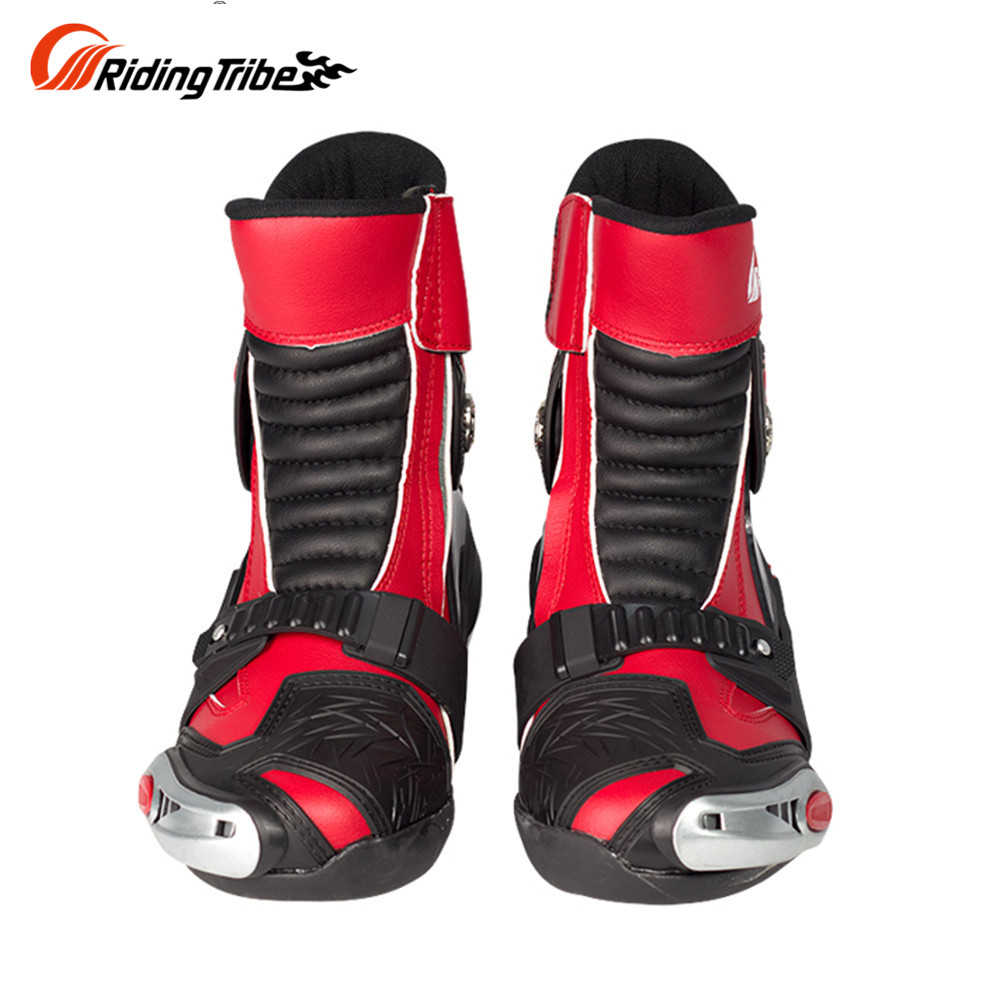 Riding Tribe SPEED BIKERS Moto Racing Dirt Bike Off-Road Riding Sports Protector Shoes Motorcycle Motocross Racing Boots Red куртка для мотоциклистов riding tribe