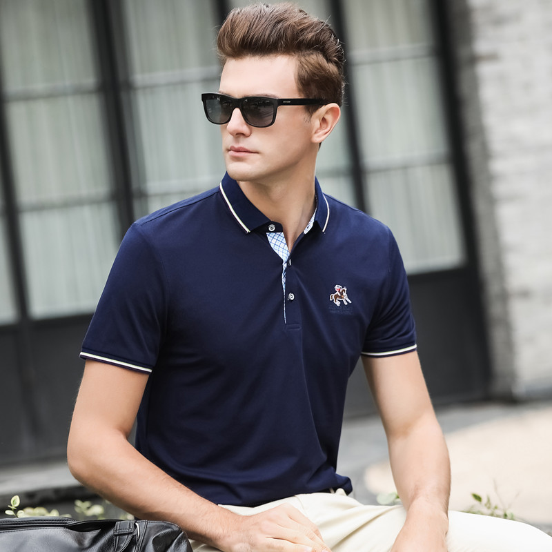 New Arrival 2019 Summer Breathable Male   Polo   Shirt Men's Vw   polo   Casual Embroidery Cotton Sleeve High Quantity Plus Size XXXL