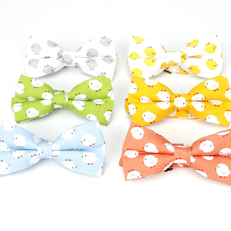 Men's Adjustable Formal 100% Cotton Fashion Animal Print Bow Tie Butterfly Bowtie Tuxedo Bear Bows Groom Prom Party Accessories