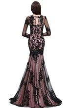 Lace Mermaid Cut Evening Dress