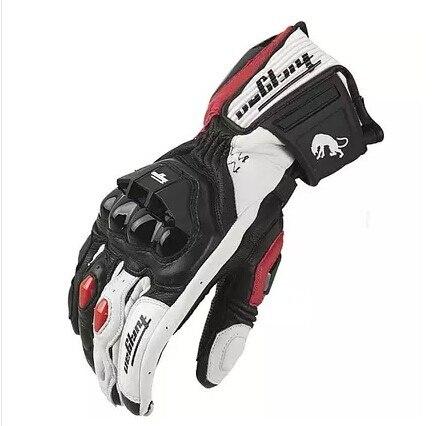 Alta qualidade luvas de couro genuíno dos homens luva moto rcycle luvas afs6 afs10 afs18 guantes rekawice moto cyklowe