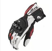 Wysokiej jakości oryginalne skórzane rękawiczki męskie luva moto rcycle rękawice AFS6 AFS10 AFS18 guantes rekawice moto cyklowe