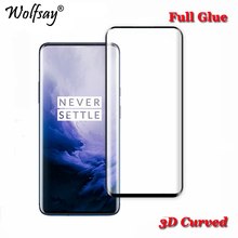 3D Curved Screen Protector for OnePlus 7 Pro Tempered Glass Full Glue Cover For Protective Film Wolfsay