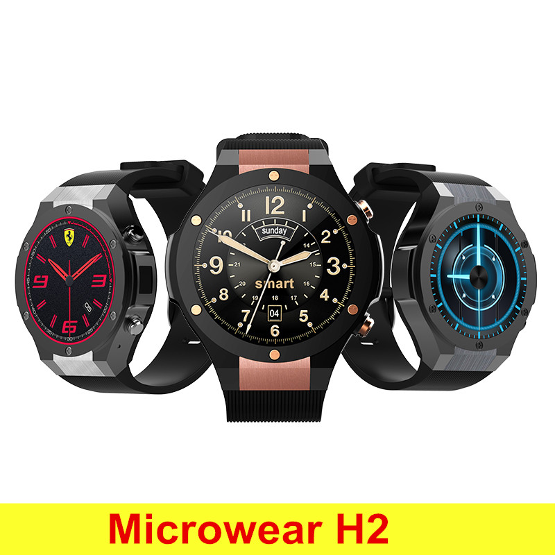 Microwear H2 3G Smartwatch Phone GPS 1.39 Inch Android 5.0 MTK6580 Quad Core 16GB 5.0MP Camera Heart Rate Monitor Pedometer microwear l1 smartwatch phone mtk2503 1 3 inch bluetooth smart watch gps heart rate measurement pedometer sleep monitor