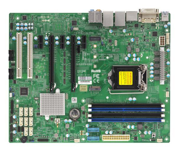 OEM X11SAE Single E31200V5 1151 Pin C236 Chipset DDR4 Memory M.2 Hard Disk Interface Graphics Workstation Motherboard