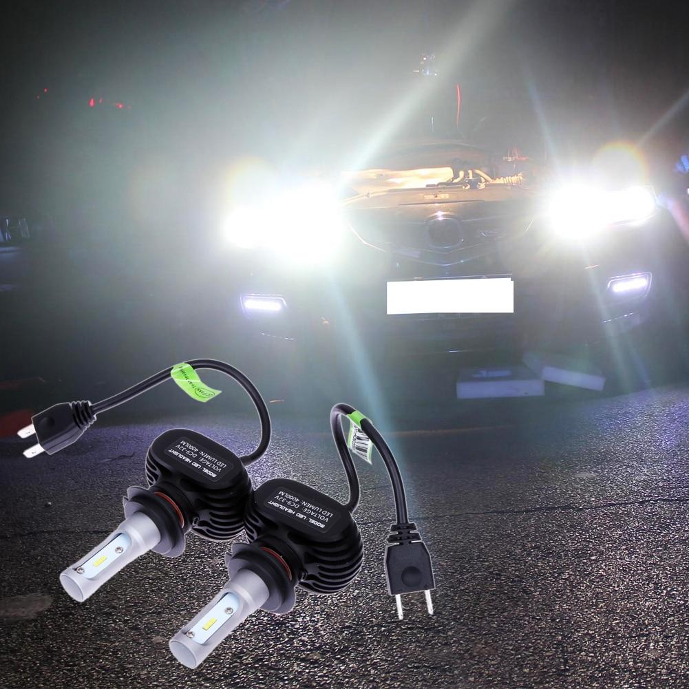 ФОТО 2pcs H7 50W/Pair Car LED Headlight Bulb CSP Chips 50W 4000lm 6000k Hi/Lo Beam Led Headlamp DRL Fog Light for Toyota/Hyundai/Kia