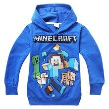 Neue Kinder Fortnite T-shirt Hoodies Für Jungen T-shirt Mädchen Kleidung Baumwolle Langarm T Tops Minecraft Meine Welt Kleidung